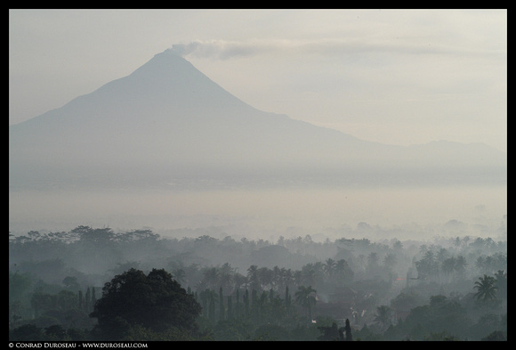 Java - Merapi from Borobudur